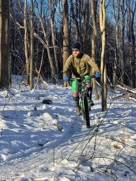 Canyon's Edge System is great for winter riding!