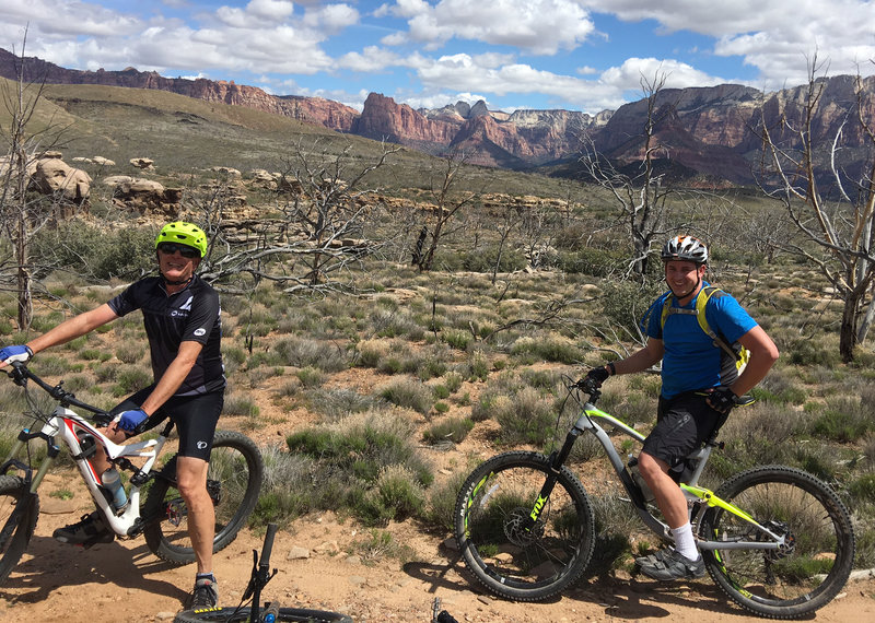 John & Kenny on a ride with St George MTB meetup, photo by Mike