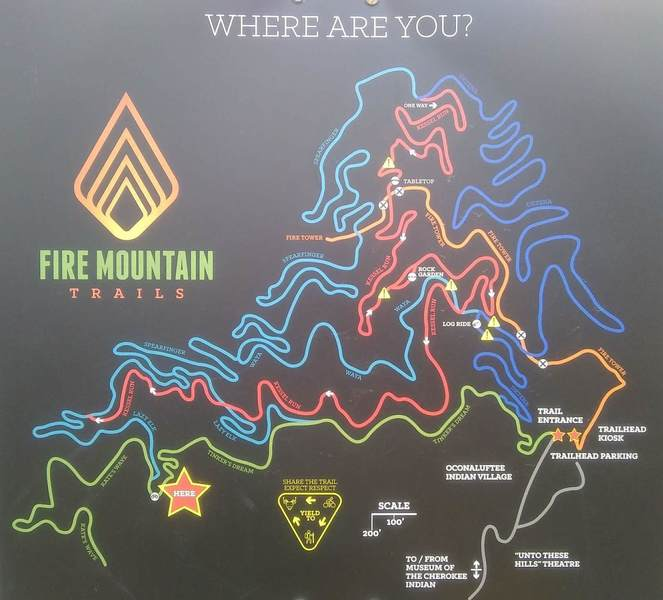 Fire Mountain Trail Map