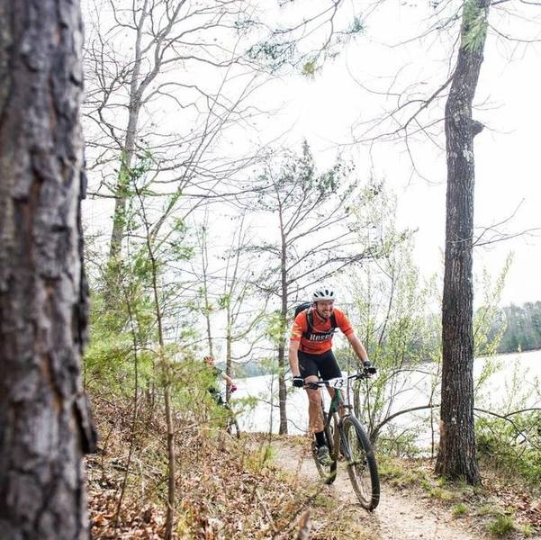 Ripping the Laurel Lake singletrack at The 45