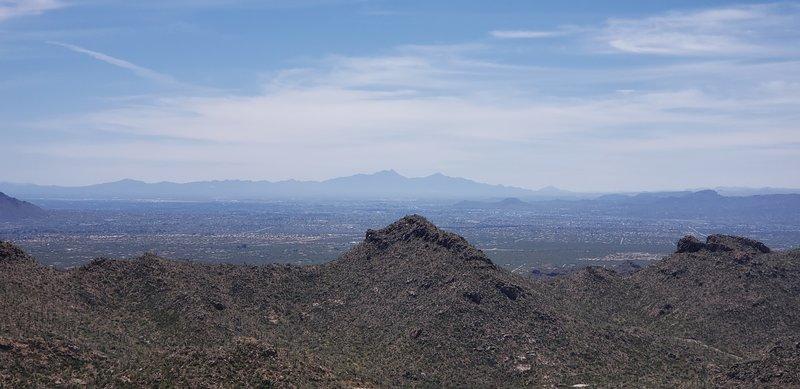 View atop Ridgline looking southeast towards Tucson.