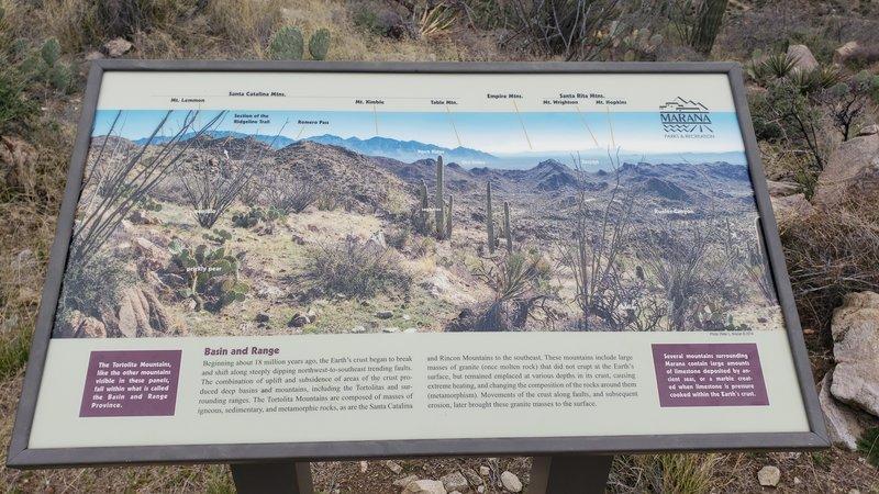 Historical site atop Ridgeline. 1 of 2 informative plaques.
