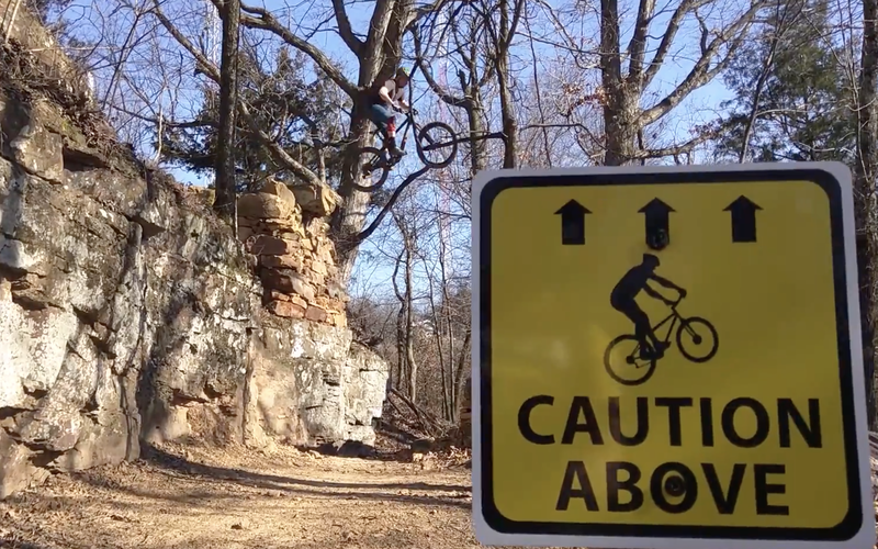 """Caution above"""