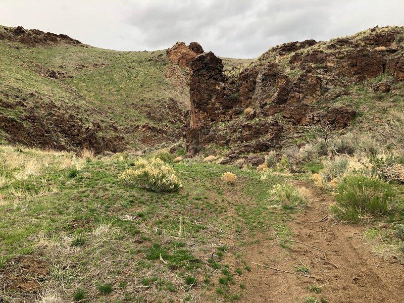 Singletrack in Hardtrigger Canyon
