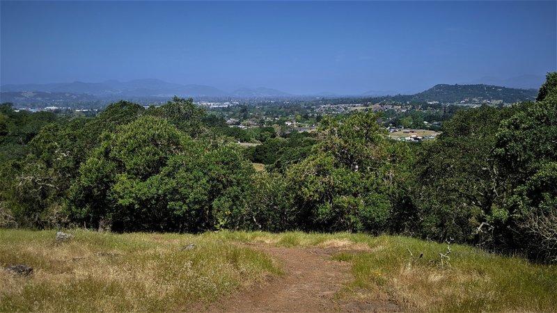 A hike-a-bike up, and a blast down