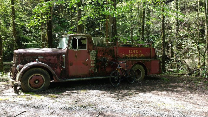Old fire truck.