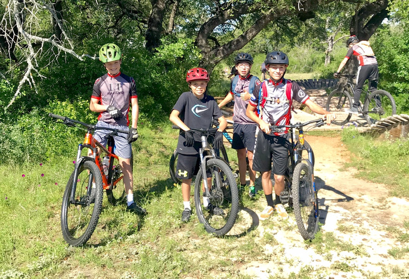 LTR middle school boys team out at Reimers Ranch for practice (at the pump track next to the parking lot)