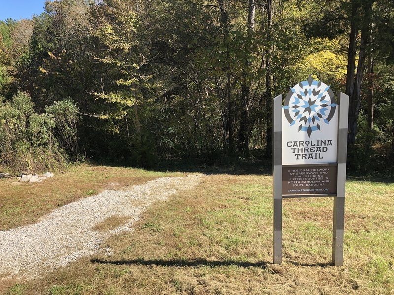 Entrance to Mineral Springs Greenway