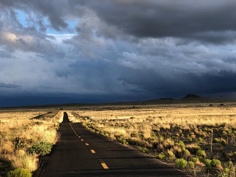 View of Paseo De La Mesa Trail Surface and landscape, 2019.
