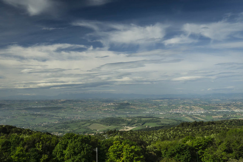 The Apennines down the center of the Italian Peninsula