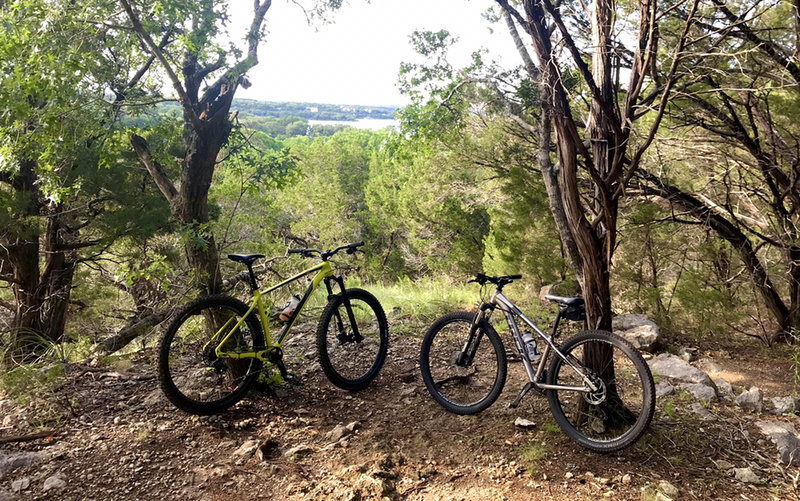 View of Lake Travis in the background...at top of Hurst Hollow Trail