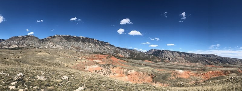 The western face of the Bighorn Mountains are the backdrop for the Bad Medicine Rides!