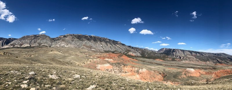 This spectacular view of the western slope of the Northern Bighorn Mountains is the backdrop for all of the Bad Medicine Rides/Races!