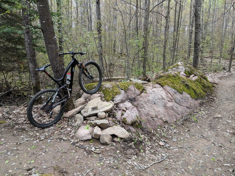 Rock ride over on the Ridge Trail.