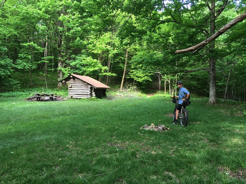 The old AT shelter at Cherry Knob
