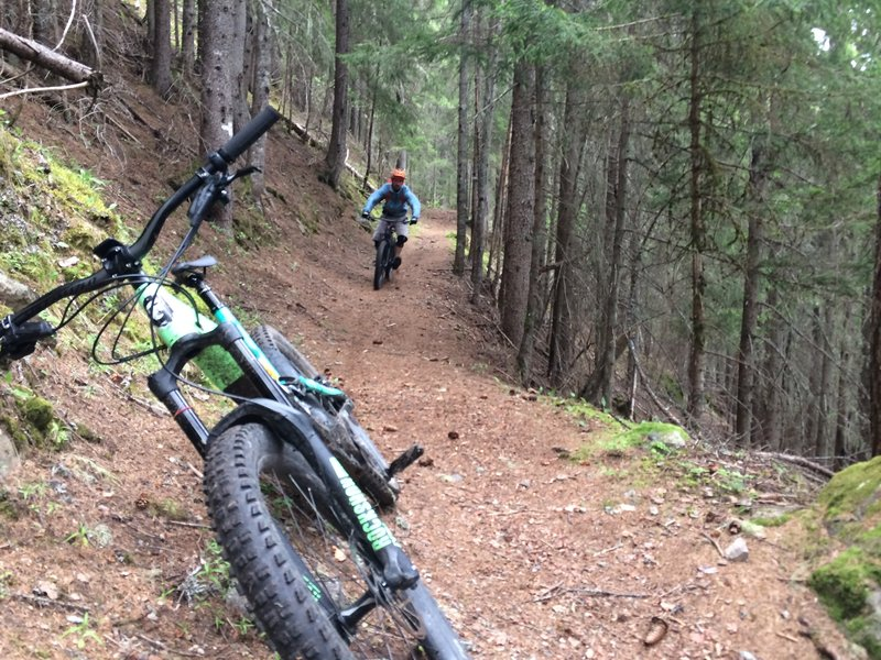 Downhill from Aiguillettes des Houches