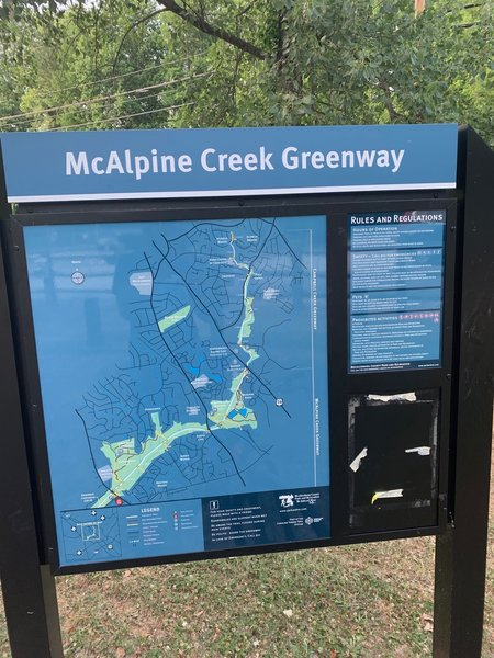 Park trailhead map at Parking area