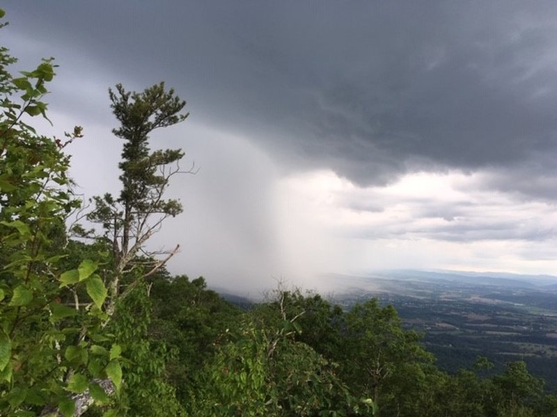 Big storm brewing! View from overlook on Kern Mountain Trail