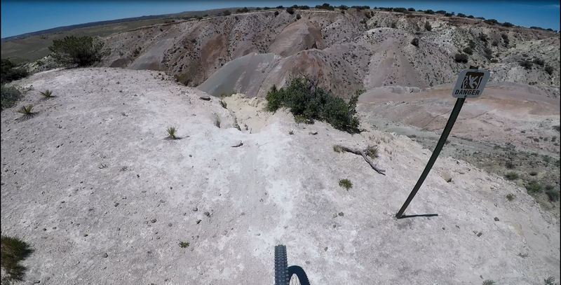 Dropping in to black diamond section near end of clockwise loop.