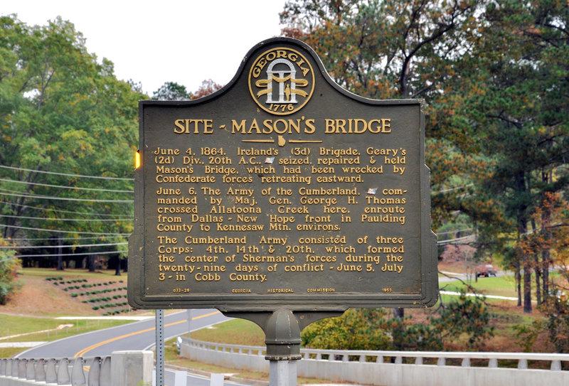 Mason's Bridge Historic Marker