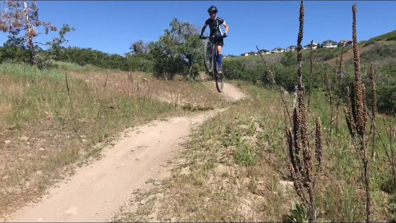 A jump about halfway down Levitate.