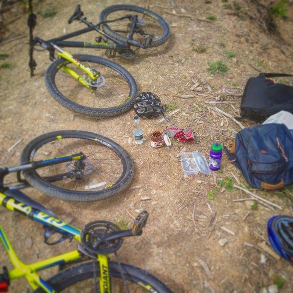 Nutella + mountain bike + jumps = infinite fun