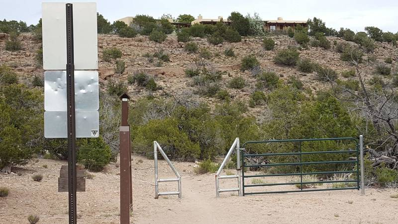 Gate out of DOE land.