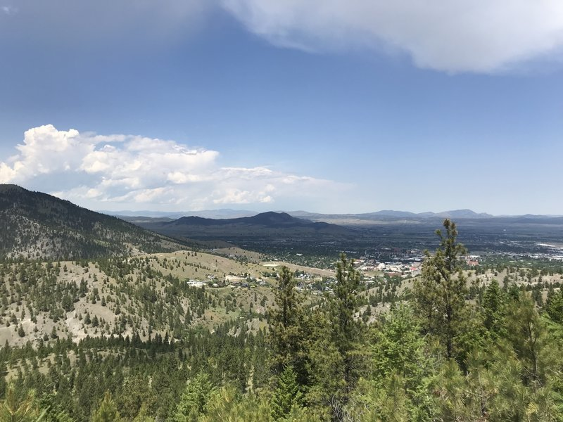 View from the top of Aftershock.