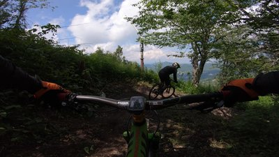 Harescramble Mountain Bike Trail Banner Elk North Carolina
