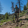 The top of Oregon Gulch is steep, super fast, and techy.