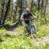 Once you get into the middle section of Oregon Gulch, the terrain mellows out and gets super fast!