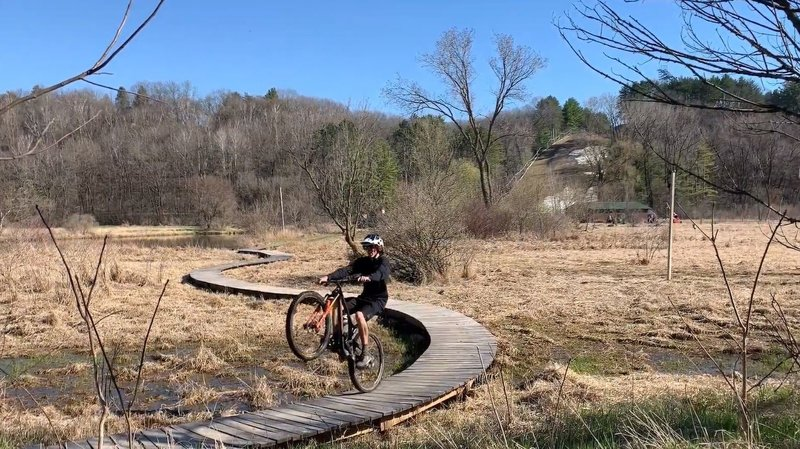 It is important to ride wheelies on twisting boardwalks ¯\_(ツ)_/¯