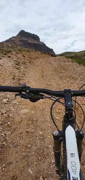 Climbing up Stone Circles toward Mt. Svartfell.