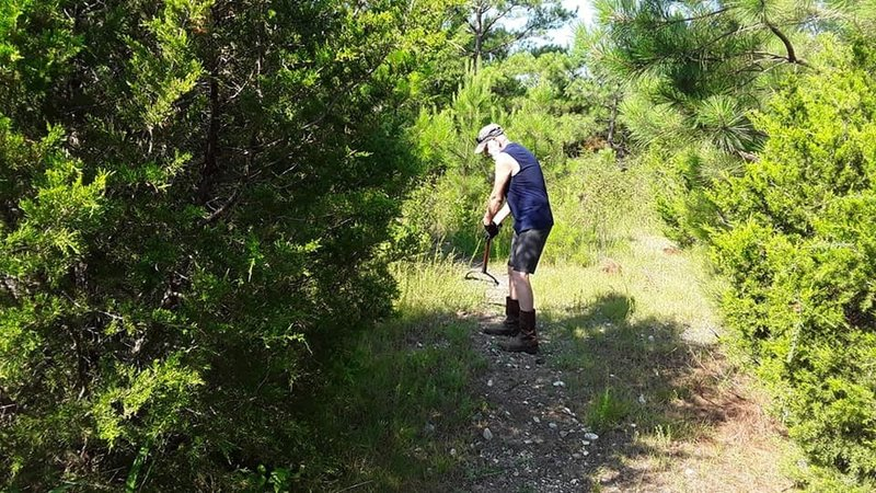 Watch out for Volunteer trail workers. Those guys are out there beating the bushes constantly!!!