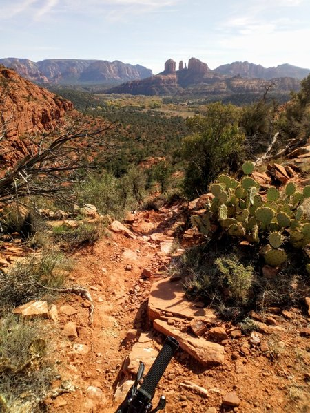 Getting technical on the Scorpion descent in Sedona.