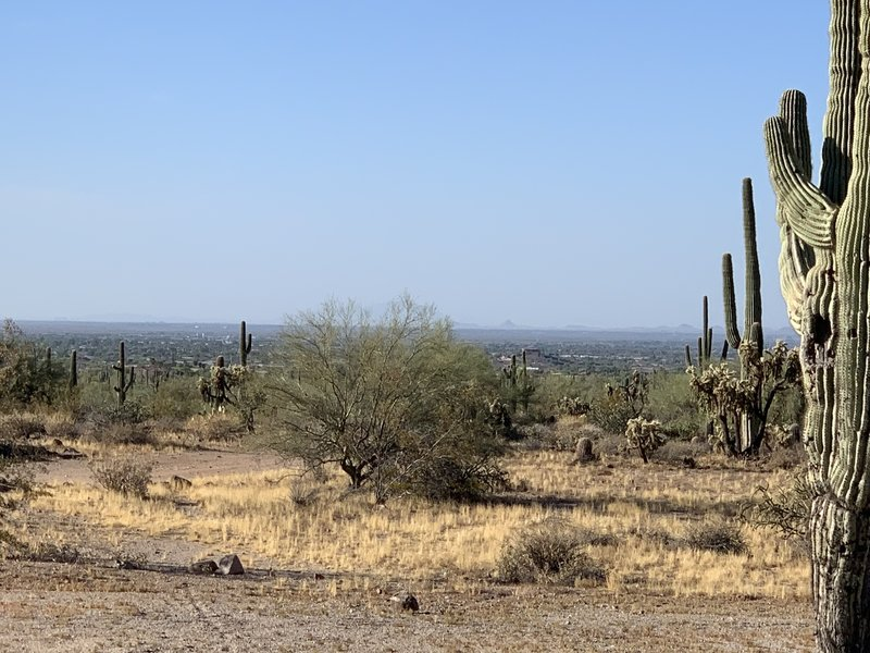 View of the Easy Valley from the parking lot trailhead