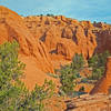 "Panorama Trail's ""Secret Passage"" is hidden among these red rock cliffs"