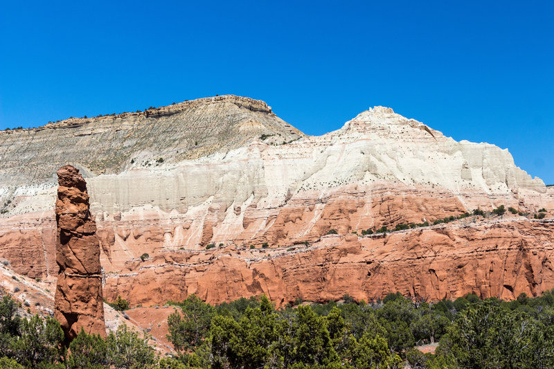 Different types of sandstone combine to create beautiful formations in Kodachrome Basin State Park.