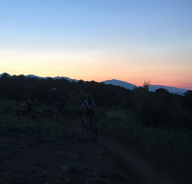 Great trail for night riding and family rides.