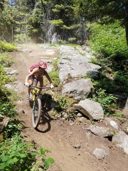 Slab Drop -- last segment of Payette Lake Trail.