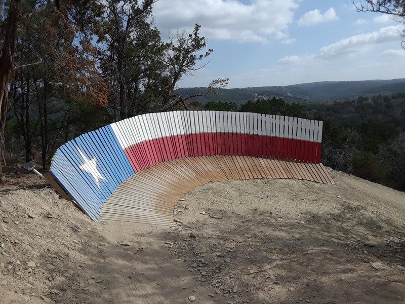 The Texas Flag wall ride along Tarantula
