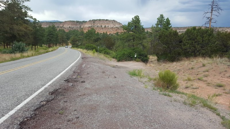 Trailhead parking for Lower Water Canyon Trail.