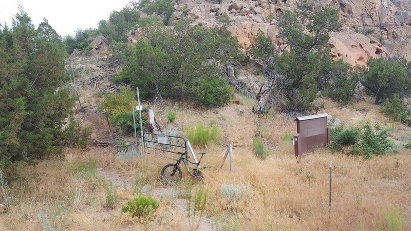 Trailhead for Boundary Trail.