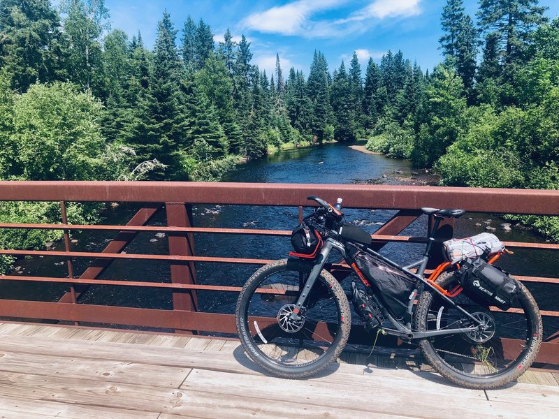 Just before the jungle insanity on the CJ Ramstad Trail near Tofte.