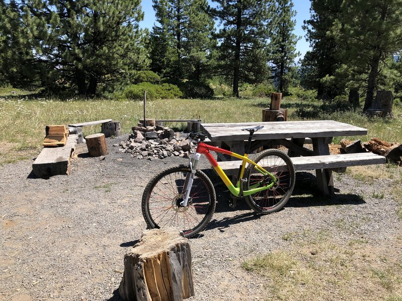 Fire lookout campground - good place to take a rest.