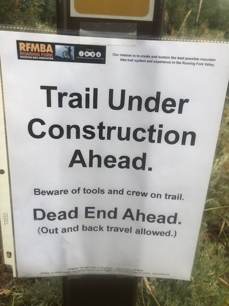 RFMBA Trail construction information.