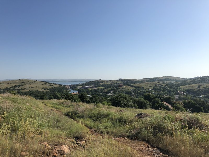 View for Lake Lawtonka from Fish Trail.