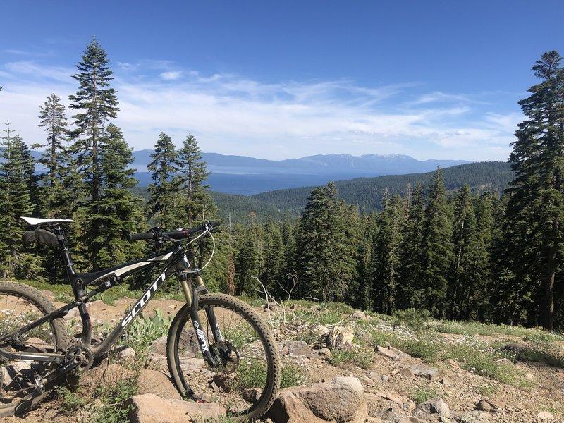 Lake Tahoe view from near top of Scott Peak