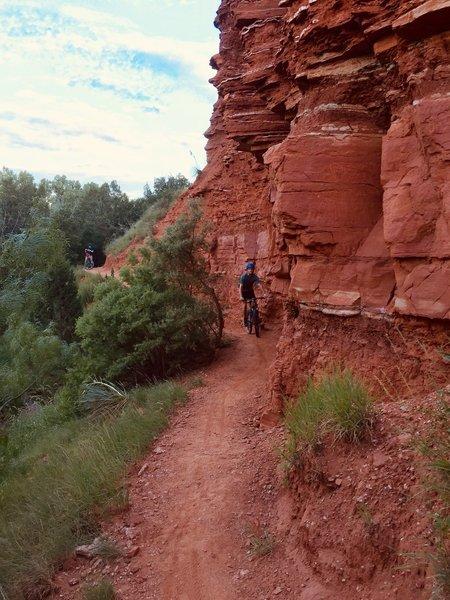 Nice scenery on a fun trail.