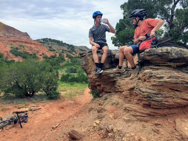 Taking a break on Juniper Cliffside.  Look for roadrunners.